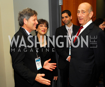Rabbi John Rosove,Barbara Rosove,Ehud Ohlmert,March 26,2012,Reception at J Street National  Gala,Kyle Samperton