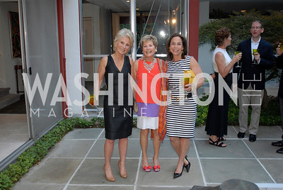 Jane Harman,Ann Brown,Melissa Moss,June 15,2012,Reception for Larry Kramer,Kyle Samperton