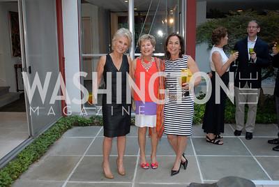 Jane Harman,Ann Brown,Melissa Moss,June 15,2012,Reception for Larry Kramer,Kyle Samperton