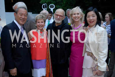 Amb.Ichiro Fujisaki,Ann Brown,Larry Kramer,Willee Lewis,Yoriko Fujisaki,,June 15,2012,Reception for Larry Kramer,Kyle Samperton