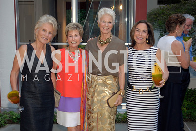 Jane Harman,Ann Brown,Gina Porten,Melissa Moss,June 15,2012,Reception for Larry Kramer,Kyle Samperton