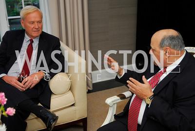Chris Matthews, Robert Rosenberg,April17,2012,Reception for The  Museum of the American Revolution ,Kyle Samperton