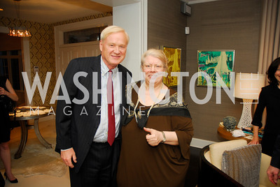 Chris Matthews, Suzanne Peck,April17,2012,Reception for The  Museum of the American Revolution ,Kyle Samperton