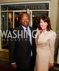 Amb.Michael  Moussa Adamo,Rachel Pearson,September 12,2012,Reception for Foundation for Afghanistan,Kyle Samperton