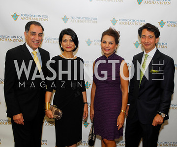 Peter Saleh,Shamin Jawad,Sheila Saleh,Said Jawad,September 12,2012,Reception for Foundation for Afghanistan,Kyle Samperton