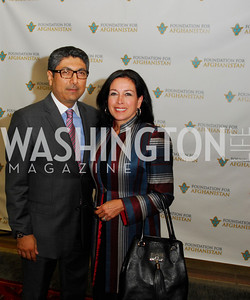 Omar Samad,Korshied Samad,September 12,2012,Reception for Foundation for Afghanistan,Kyle Samperton