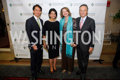 Said Jawad,Shamin Jawad,Laura Denise Bisogniero,Amb.Claudio Bisogniero,September 12,2012,Reception for Foundation for Afghanistan,Kyle Samperton