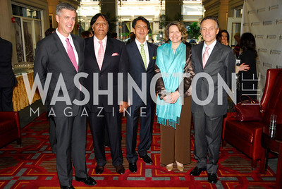 Amb.Richard Olson,Ray Mamood,Said Jawad,Laura Denise Bisogniero,Amb.Claudio Bisogniero,September 12,2012,Reception for Foundation for Afghanistan,Kyle Samperton