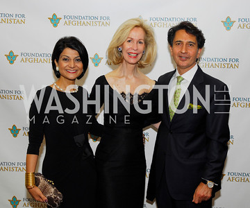 Shamin Jawad,Bonnie McElveen-Hunter,Said Jawad,September 12,2012,Reception for Foundation for Afghanistan,Kyle Samperton