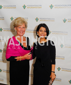 Leslie Schweitzer,Shamin Jawad,September 12,2012,Reception for Foundation for Afghanistan,Kyle Samperton