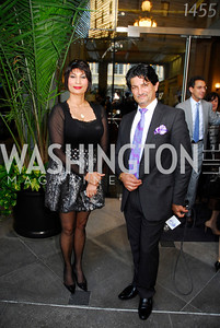 Nazira Karimi,Fatah Eshaqza,September 12,2012,Reception for Foundation for Afghanistan,Kyle Samperton