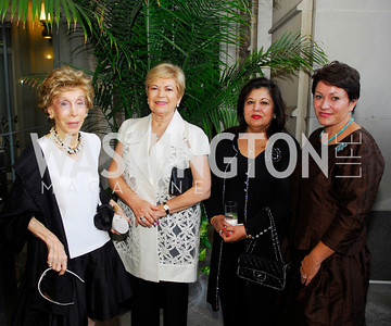 Ina Ginsburg,Ximena Sanchez deLozada,Shaista Mamood ,Ciidalia Akbar,September 12,2012,Reception for Foundation for Afghanistan,Kyle Samperton