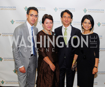 Masud Akbar,Cidalia Akbar,Said Jawad,Shamin Jawad,September 12,2012,Reception for Foundation for Afghanistan,Kyle Samperton