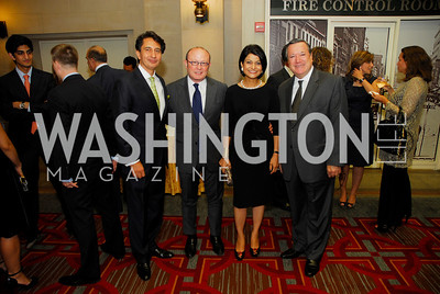 Said Jawad,  Franco Nuchese,Shamin Jawad,Amb.Gilles Noghes,September 12,2012,Reception for Foundation for Afghanistan,Kyle Samperton