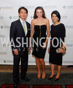 Said Jawad, Jana Sedlakova,Shamin Jawad,September 12,2012,Reception for Foundation for Afghanistan,Kyle Samperton