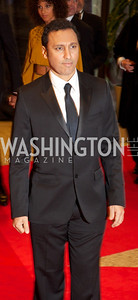 Aasif Mandvi. White House Correspondents Dinner Red Carpet at the Washington Hilton.  Photo by Ben Droz