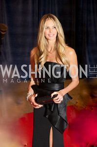 Elle Macpherson White House Correspondents Dinner Red Carpet at the Washington Hilton.  Photo by Ben Droz