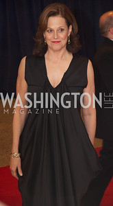 Sigourney Weaver  White House Correspondents Dinner Red Carpet at the Washington Hilton.  Photo by Ben Droz