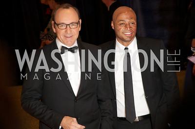 Kevin Spacey, JR Martinez White House Correspondents Dinner Red Carpet at the Washington Hilton.  Photo by Ben Droz