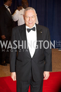 Colin Powell  White House Correspondents Dinner Red Carpet at the Washington Hilton.  Photo by Ben Droz