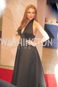 Lindsay Lohan, White House Correspondents Dinner Red Carpet at the Washington Hilton.  Photo by Ben Droz