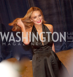 Lindsay Lohan.  White House Correspondents Dinner Red Carpet at the Washington Hilton.  Photo by Ben Droz