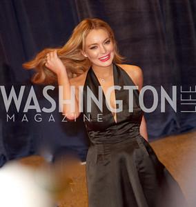 Lindsay Lohan.  White House Correspondents Dinner Red Carpet at the Washington Hilton.  Photo by Ben Droz
