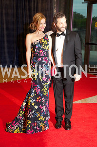 Leslie Mann and Judd Apatow at the White House Correspondents Dinner Red Carpet at the Washington Hilton.  Photo by Ben Droz