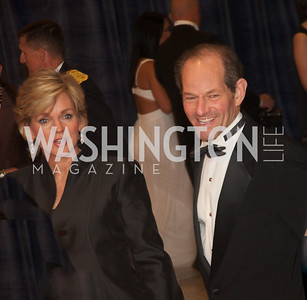 Mr. and Mrs. Eliot Spitzer White House Correspondents Dinner Red Carpet at the Washington Hilton.  Photo by Ben Droz