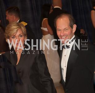 Mr. and Mrs. Eliot Spitzer White House Correspondents Dinner Red Carpet at the Washington Hilton.  Photo by Ben Droz