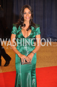 Rosario Dawson. White House Correspondents Dinner Red Carpet at the Washington Hilton.  Photo by Ben Droz