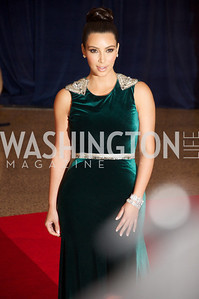 Kim Kardashian, White House Correspondents Dinner Red Carpet at the Washington Hilton.  Photo by Ben Droz