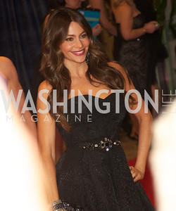 Sofia Vergara  at the White House Correspondents Dinner Red Carpet at the Washington Hilton.  Photo by Ben Droz