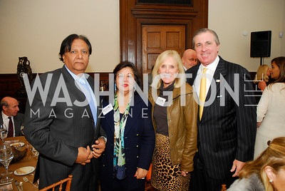Ray Mahmood,Shaista Mahmood,Laurie Monahan,Bob Monahan,October 25,2012, Refugees International Washington Circle Luncheon,Kyle Samperton