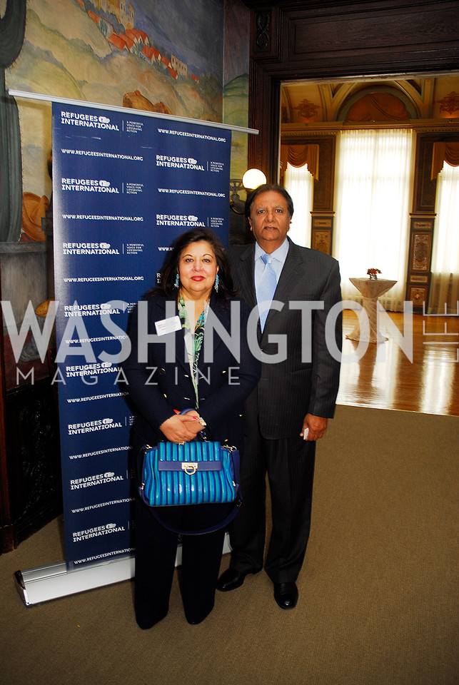 Shaista Mahmood, Ray Mahmood,October 25,2012, Refugees International Washington Circle Luncheon,Kyle Samperton