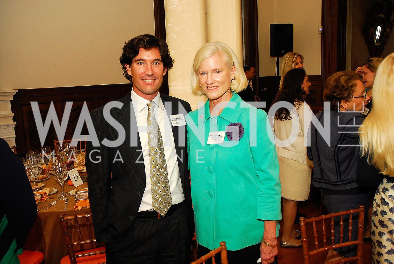 Marc Hanson,Caroline Croft,October 25,2012, Refugee's International Washington Circle Luncheon,Kyle Samperton