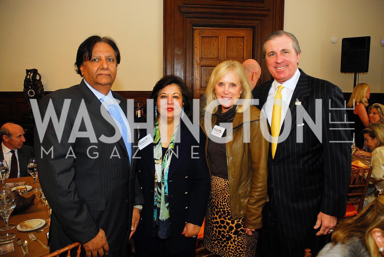 Ray Mahmood,Shaista Mahmood,Laurie Monahan,Bob Monahan,October 25,2012, Refugees International Washington Circle Luncheon,Kyle Samperton