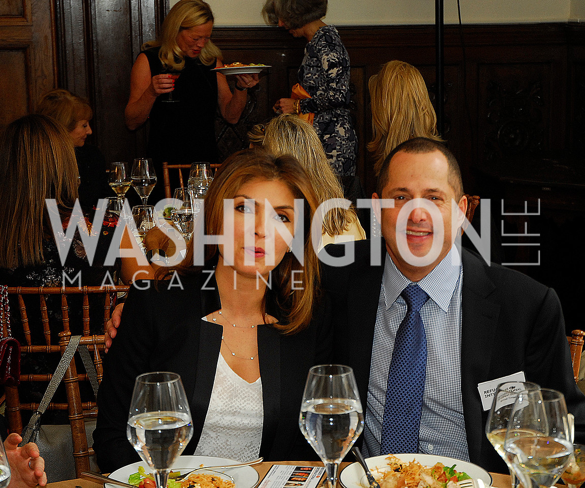 Yasmine Pahlavi,Michael Trager,October 25,2012, Refugees International Washington Circle Luncheon,Kyle Samperton