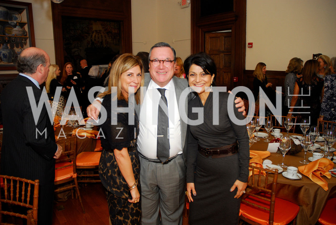 Fariba Jahanbani,Amb.Gilles Noghes,Shamim Jawad,October 25,2012, Refugees International Washington Circle Luncheon,Kyle Samperton
