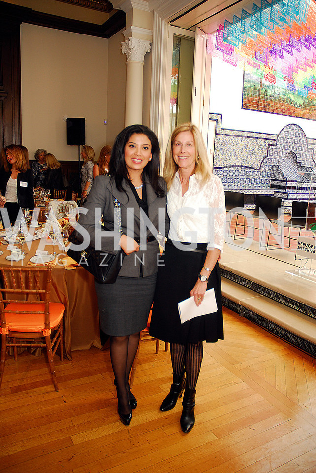 Rosa Djalal,Eileen Shields West,October 25,2012, Refugees International Washington Circle Luncheon,Kyle Samperton