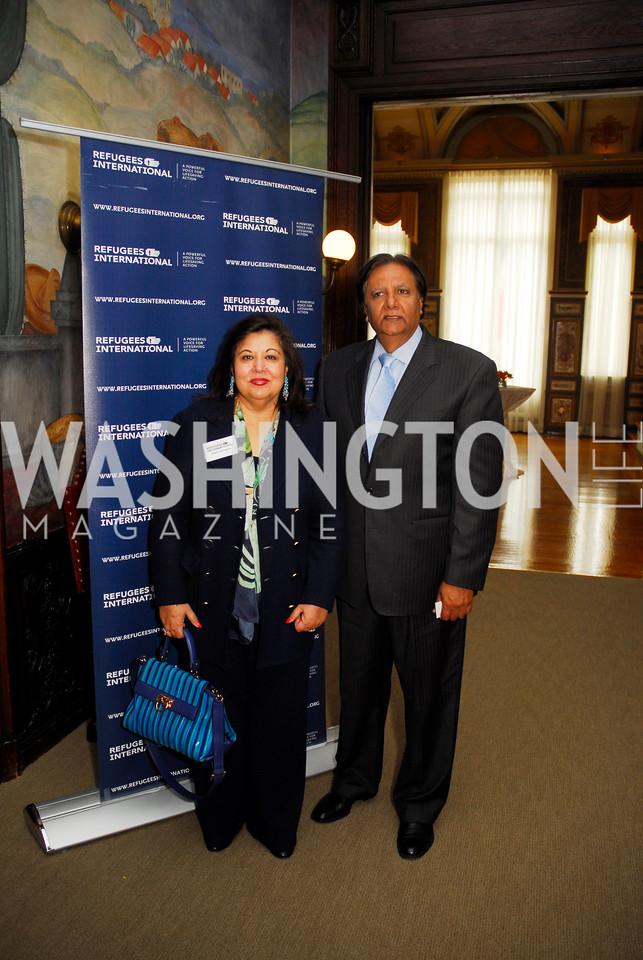 Shaista Mahmood, Ray Mahmood,October 25,2012, RefugeesInternational Washington Circle Luncheon,Kyle Samperton