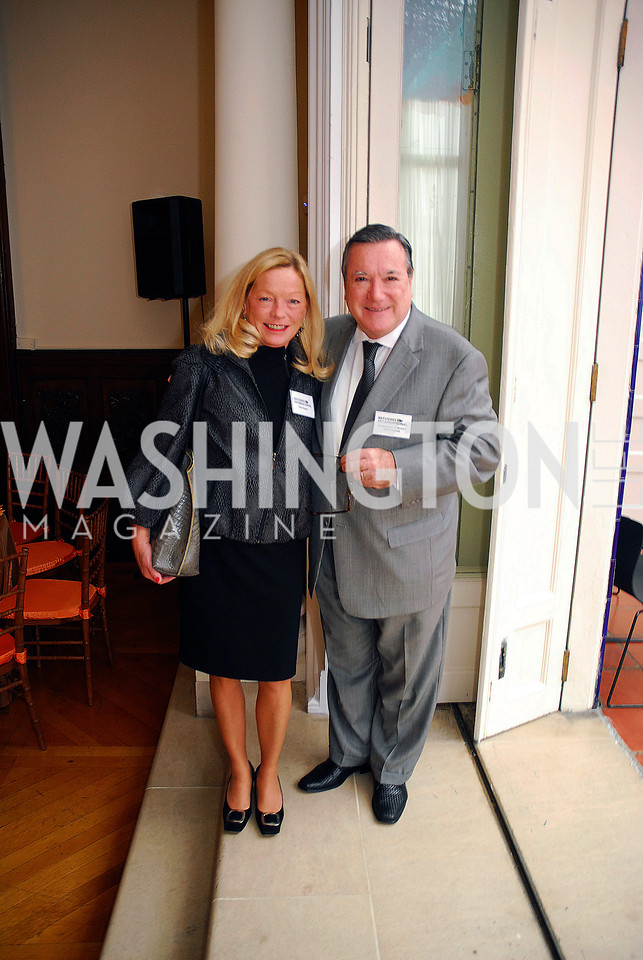 Ellen Noghes,Amb.Gilles Noghes,October 25,2012, Refugees International Washington Circle Luncheon,Kyle Samperton