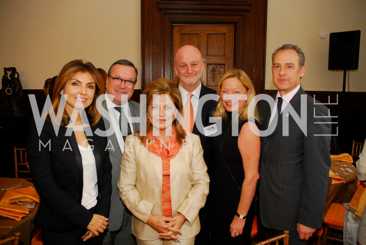 Yasmine Pahlavi, Amb.Gilles Noghes,Annie Totah,Amb.Ramon Gil-Casares,Ellen Noghes,Amb .Arturo Sarukhan,October 25,2012, Refugee's International Washington Circle Luncheon,Kyle Samperton