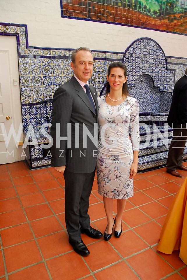 Amb.Arturo Sarukhan,Veronica Sarukhan,October 25,2012, Refugees International Washington Circle Luncheon,Kyle Samperton