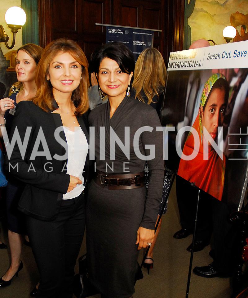 Yasmine Pahlavi,Shamim Jawad,October 25,2012, Refugee's International Washington Circle Luncheon,Kyle Samperton