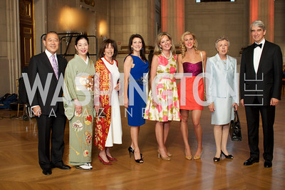 Japanese Ambassador Ichiro Fujisaki, Yoriko Fujisaki, Didi Cutler, Jodi Bond, Mariella Trager, Mary Anne Huntsman, Hadassah Lieberman, Sam Waterston. Photo by Ben Droz.
