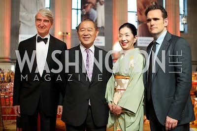 Sam Waterston, Japanese Ambassador Ichiro Fujisaki, Yoriko Fujisaki, Matt Dillon. Photo by Ben Droz.