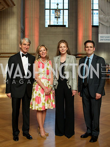 Sam Waterston, Mariella Trager, Queen Noor of Jordan, Matt Dillon. Photo by Ben Droz.