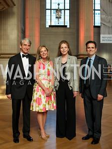 Sam Waterston, Mariella Trager, Queen Noor of Jordan, Matt Dillon. Photo by Ben Droz.