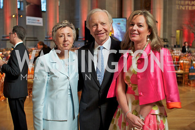 Hadassah Lieberman, Senator Joseph Lieberman,  Mariella Trager . Photo by Ben Droz.
